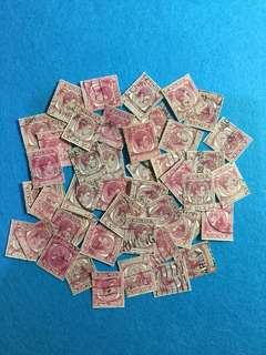50pcs Singapore 1949 King George 6 Definitives 10cent Values Used