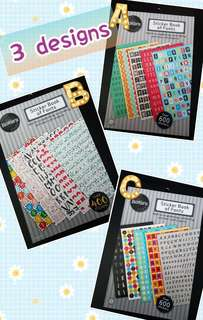 [INSTOCK] BN Sticker Book of Fonts
