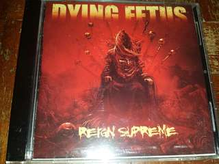 Music CD (Metal): Dying Fetus ‎– Reign Supreme - Death Metal