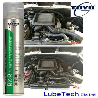 SILICONE LUBRICANT, TOYO R&R Rubber Release Agent - Lubricate and Protect plastic and rubber parts.