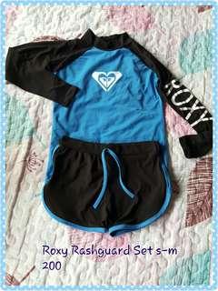 Roxy Blue Rashguard Set