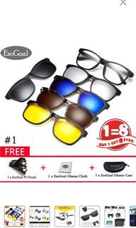 Magnetic Polarized Sunglasses Eyewear for Men and Women
