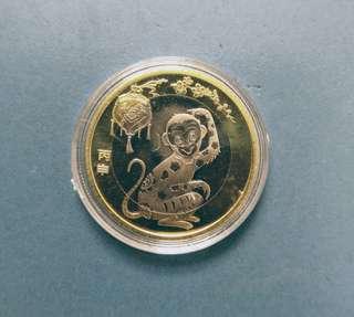 中国錢幣$1O(猴年)