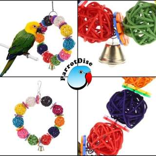 Colourful Vine Ball toy for Parrot
