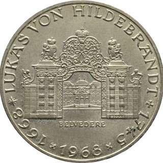 300th Anniversary of Lukas von Hildebrandt silver coin