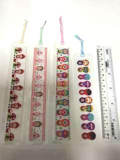 Bookmarks (laminated grosgrain ribbon)
