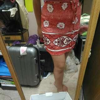 好搭短裙 可綁带一片沙龍裙,S~大L皆可穿