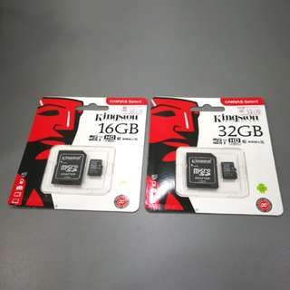 Kingston SD Card 16GB / 32GB