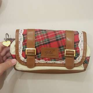 Tartan Lace Pencil Case