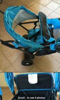 Seebaby TANDEM Stroller (* big canopy) - preloved - sgd49.50 COLLECTION BY TODAY later
