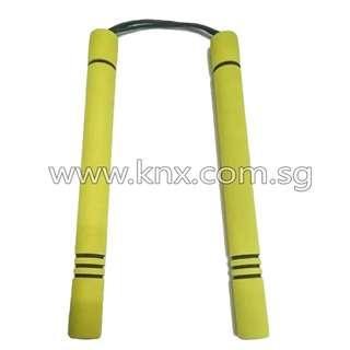 In Stock – MIS 0044 – Yellow Foam Paracord Training Nunchaku