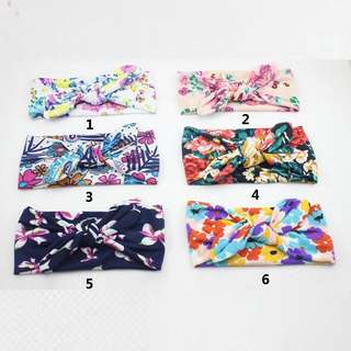 [PRE-ORDER] LOVELY RABBIT EARS HEADBAND FLOWER CATTON HAIRBAND BOWKNOT HEAD WRAP