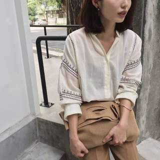 韓 刺繡 襯衫 banbi co cover