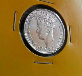 Malaya 20 Cent 1939. Silver