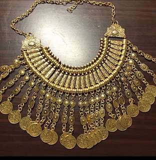 BN Gold Coin Statement Necklace