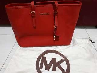 MK Jet Set Safianno Leather Bag