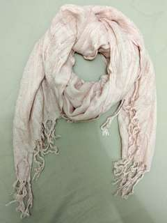 Ever New baby pink sequined scarf