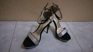 Gibi Collection- Black and Silver heels
