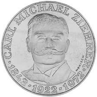 50th Anniversary of the Death of Carl Michael Ziehrer 25 schilling silver coin