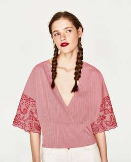 Zara Embroidery Red