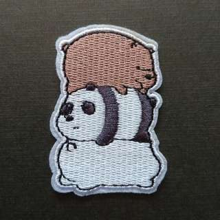 We Bare Bears Iron On Patch