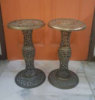 antique brass side table 2
