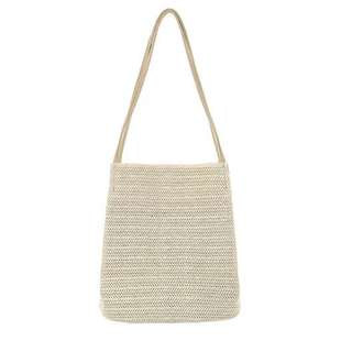 手提草編沙灘包