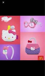 Hello kitty perfume sticker dispenser happy meal toy