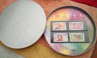 2001年 【全新*絕版*菲林盒特別版】香港電影明星2郵票 Hong Kong Movie Stars II Stamp set 香港本土文化集體回憶懷舊插畫藝術