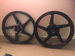 Rim, disc n crown handle fz