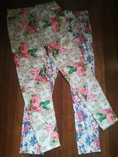 Preloved Small Size BUNDLE Floral Leggings