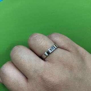 J's 925純銀 鑽石戒指 真鑽石