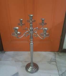 antique tall candle holder