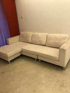 L-shaped fabric Sofa
