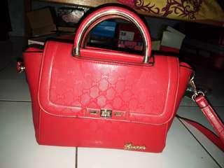Original Guess Strucred Bag Red