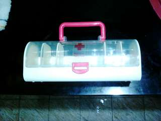 Medicine kit with compartment