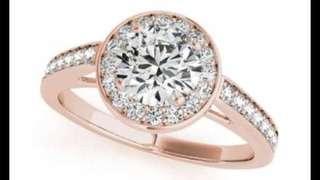 18k Rose Gold .87 carat VS 1 diamond