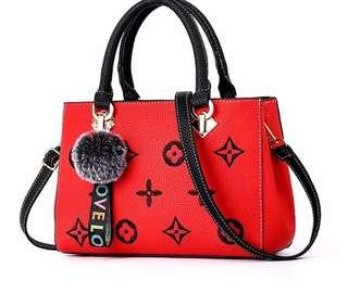 Red Black Coffee Designer Brand LV inspired Bag Louis Vuitton