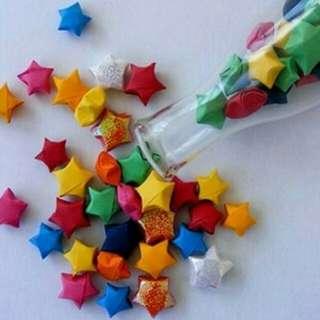 Origami bintang lucky stars