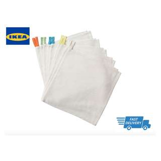 IKEA KRAMA Washcloth, white 10 pieces FAST DELIVERY