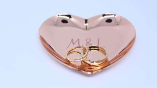 Customized ring holder WEDDING jewelry tray