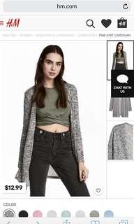 fine-knit cardigan h&m