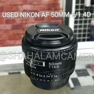 (USED) NIKON AF 50MM F/1.4D LENS