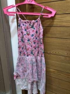 Pink Longback Floral Dress