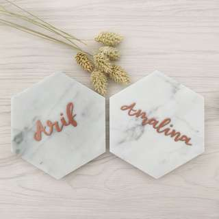 Customized marble coasters