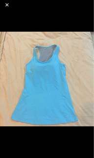 Nike Blue Top Sport With Bra