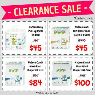 Nateen Clearance Sales (June 2018)