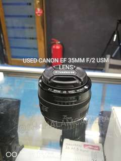 (USED) CANON EF 35MM F/2 LENS