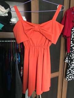 dress sabrina orange