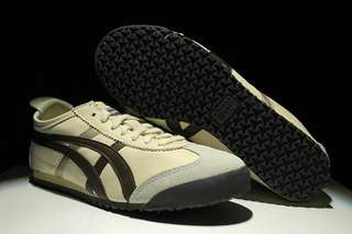 Authentic Onitsuka Tiger (Mexico 66) Beige/ Brown/Gold